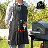 Barbecue Jumbo Lot de 4pièces (cuisson Outils équipement Specialist Barbecue + Jumbo Tablier unisexe)
