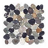 K-1-567 - 1m² = 11 Fliesen Kieselstein Mosaikfliesen geschnitten Naturstein Lager Verkauf Stein-Mosaik Herne NRW
