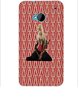 PrintDhaba Violin Girl D-5654 Back Case Cover for HTC ONE M7 (Multi-Coloured)