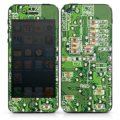 Apple iPhone SE Case Skin Sticker aus Vinyl-Folie Aufkleber Platine Computer Muster DesignSkins® glänzend