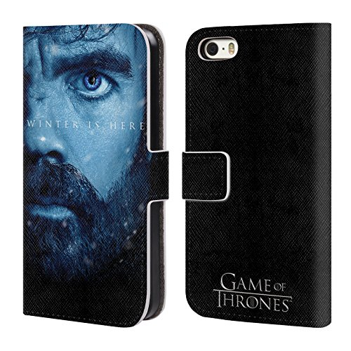 Officiel HBO Game Of Thrones Jon Snow Winter Is Here Étui Coque De Livre En Cuir Pour Apple iPhone 5 / 5s / SE Tyrion Lannister