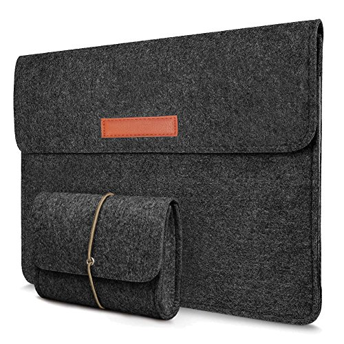 Young & Ming Laptop-Tasche, Filz, für 13 Zoll MacBook Pro/ Macbook Air 13/ Pro Retina/ 12.9 Zoll iPad Pro Hülle 13.3 Zoll Macbook Air/ Pro Retina/12.9 Zoll iPad Pro Sleeve Hülle Ultrabook(Dunkelgrau)