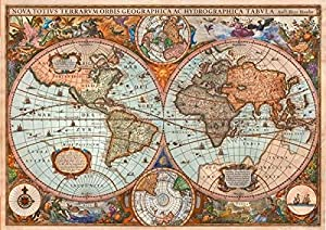 Schmidt Spiele 58328 - Puzzle (3000 Piezas), diseño de mapamundi Antiguo