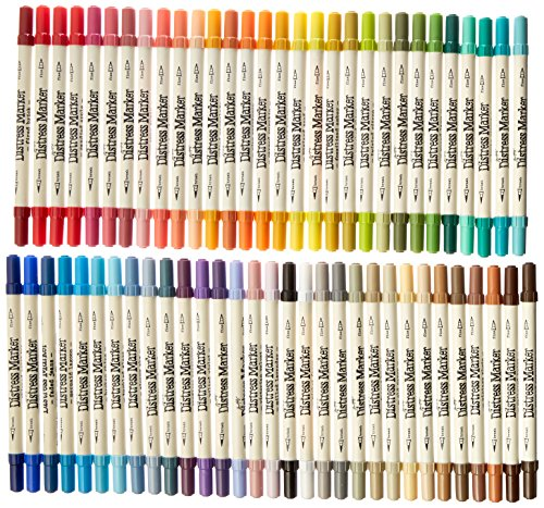 Great Buy for Ranger Tim Holtz Distress Markers Tube Set 61/Pkg-61 Colors, Other, Multicoloured Review