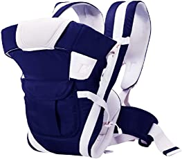 Chinmay Kids Baby Carrier Bag with Hip Seat and Head Support for 4-12 Months WB (Dark Blue)