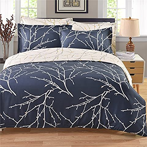 DuShow Tree Pattern Bedding 3 Piece Duvet Cover Set Reversible Printing with Brushed Microfiber, Lightweight Soft, Comfortable ,