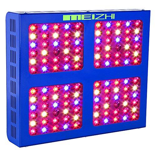 MEIZHI Pflanzenlampe, LED Grow Lampe 600W, Vollspektrum für Zimmerpflanzen Schaltbar Gemüse und Blüte Reflektor Serie 600w Led