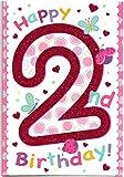 Kinder Geburtstagskarte für zwei (2) Jahr Mädchen–Kostenloser 1st Class Post (UK)