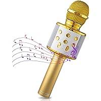 Maxesla Microfono Karaoke Bluetooth, 4in1 Microfono Bambini con cassa Luci LED Multicolore, Portatile Microfono…