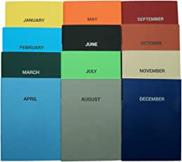 Thinkpot Monthly Planner Notebooks (Set of 12)