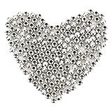 1000 Piezas 4 mm Abalorios de Espaciador de Metal Abalorios Redondos Plateados Cuentas Pequeñas Lisas para Collar, Pulsera y Fabricación de Bisutería