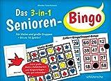 Das 3-in-1 Senioren-Bingo: Für kleine und große Gruppen - bis zu 16 Spieler! Extra große Motiv-/Zahlenkarten und Bingovorlagen - sehr gut erkennbar