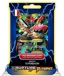 MEGA M CIZAYOX EX FULL ART 120/122 220PV XY09 RUPTURE TURBO - Booster de 10 cartes Pokemon francaises my-booster