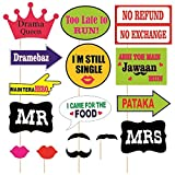 #3: D.C Party Props Marriage Or Party Theme Paper Craft Item, Multi Colour (Set Of 16)
