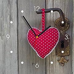 Idea Regalo - Contento Orologio da Cucina - cuore