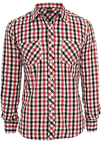 Urban Classics Tricolor Big Checked Black/White/Re blkwhtred