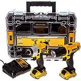 DeWalt DCK211D2T 10.8V Li-ion Cordless Compact Drill Driver and Impact Driver (Twin Pack)