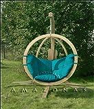 Globo Chair green – Luxuriöse Holzhängekugel Hängesessel von Amazonas - 3