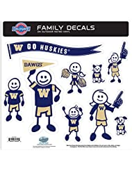 NCAA Washington Huskies Family Character Decals, Large