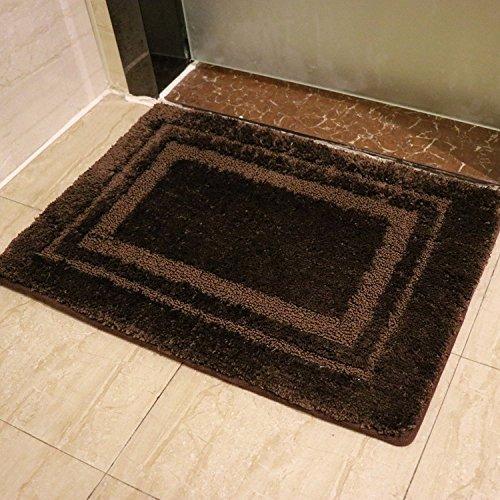 pllp Memory-Schaum langsam Rebound-Matte, Flur Bad Küche Fußmatte, Wasser Verdickung Teppich,Kaffee,41 * 63cm