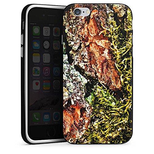 Apple iPhone 4 Housse Étui Silicone Coque Protection Écorce Bois Marais marécage mousse Housse en silicone noir / blanc