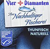 Vier Diamanten Thunfisch Filets Naturell Pole und Line MSC 160 g, 8er Pack (8 x 160 g)