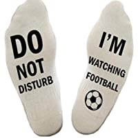 Himozoo 'Do Not Disturb I'm Watching Football or Rugby' Socks Novelty Funny Socks for Men Women Rugby Football Lovers…