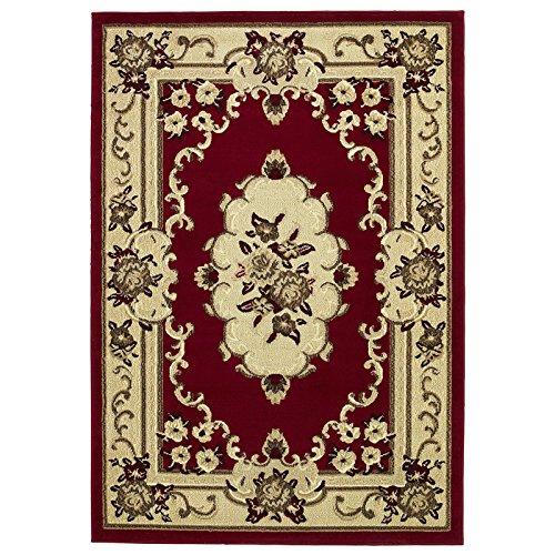 Traditionelle Orientalische Teppich (HomeLinenStore Traditionell Vier Weg Bound Design Superior Qualität Langlebig getuftet Teppich/Teppich, rot-180x 270cm)