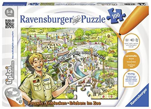 Ravensburger-00524-tiptoi-Puzzeln-Entdecken-Erleben-Im-Zoo Ravensburger 00524 Tiptoi Puzzle Im Zoo -