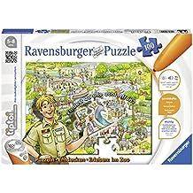 """Ravensburger tiptoi Puzzle """"Im Zoo"""" - 00524 / Entdecken & Erleben: Abwechslungsreiches Motorikspiel für Kinder von 5-8 Jahre, 100 Teile"""