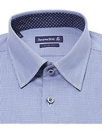 JACQUES BRITT Herren Hemd Langarm Paul Mix Blue Label Slim Fit 273073-015 blau gemustert Größen: 38 39 40 41 42