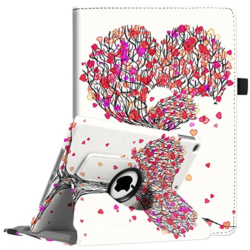 Fintie iPad 9.7 Zoll 2018 2017 / iPad Air Hülle - 360 Grad Rotierend Stand Cover Case Schutzhülle mit Auto Schlaf/Wach Funktion für Apple iPad 9,7'' 2018 2017 / iPad Air 2 / iPad Air, Herbst Liebe