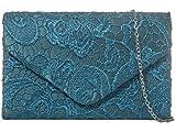 H&G Ladies Satin Lace Clutch Bag Shoulder Chain Elegant Wedding...