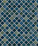 Vlies Tapete Stein Keramik Mosaik Fliesen Florentiner Optik petrol blau NF232085