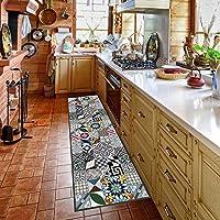 Alfombra de cocina, lavable en lavadora, alfombra cocina,52cm x 280cm, antiácaros, antideslizante, alfombra de cocina diseño geométrico,100% made in Italy,alfombra de cocina diseño de impresión digital