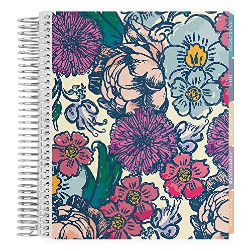 Erin Condren 2019-2020 LifePlaner, 18 Monate, Spiralbindung, Blumentinte, vertikal (farbenfrohes Layout) (Kalender-buch Monatlich)