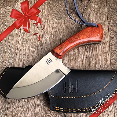 Hobby Hut HH-307, Custom Handgemachtes Jagdmesser mit Scheide, 01 Kohlenstoffstahl, feststehende Messer, Extra Scharf, Fixed Blade Messe für Camping Jagd mit lederscheide