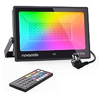 Novostella Projecteur LED RGB 100W, 20 Couleurs 6 Modes avec Télécommande à 44 Touches, Projecteurs Couleur Éclairage de…