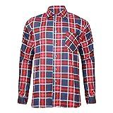 Extreme Pro Herren Flanell-Hemd Rot-Blau Gr. L EX1020_L