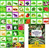 Sahaya 46 Varieties (1985+ Seeds) Of Quality (Organic/Hybrid) Fruits & Vegetables Seed For Kitchen/Terrace/Poly House Garden With Instruction Booklet