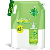 Godrej Protekt Germ Fighter Handwash Refill, Lime - 1.5 L, 99.9% Germ Protection, With Glycerin & Coconut Oil