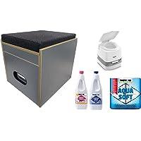 Toilettes Tabouret Porta Potti 335 Kit complet avec toielette et accessoires