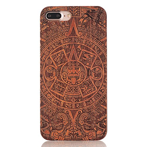 G-i-Mall iPhone 7 Holzhülle - Ultraslim Handyhülle Echtem Holz Schutz Hülle Schale mit PC Bumper Hart Cover Case Etui für Apple iphone 7 4.7 Zoll Smartphone, Wood Cover#4 Wood Skins #8
