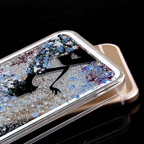 iPhone SE Hülle Glitzer,iPhone SE Hülle Hard,iPhone SE Hülle Clear,iPhone SE Transparent Crystal Clear flüssigkeit Case Hülle Klare Ultradünne Transparente Gel Schutzhülle Durchsichtig Rückschale Etui Girl Series 4
