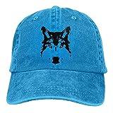 uykjuykj Black Wolf Head Unisex Hipster Baseball Cap Dad Hat Adjustable Unique Personality Cap