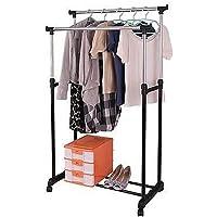 Blastoise Double Pole Stainless Steel Folding Adjustable Clothes Garment Drying Rack Hanger/Multipurpose Cloth Portable…