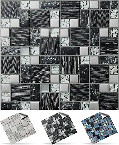tile-style-decals-modell-30xtp-71-6in-black-silver-glass-mosaik-wandfliese-aufkleber-fur-15x15cm-fli