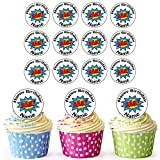 Superhero Bam 24Personalisierte Essbare Cupcake Topper/Geburtstag Kuchen Dekorationen–Einfache vorgeschnittenen Kreise