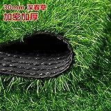 ZHUDJ Kunstrasen Kunstrasen Künstliche Gefälschtes Gras auf der Dachterrasse Baumschule Grüne Wiese Teppich Matte Dekorative Sham Chun-3 cm