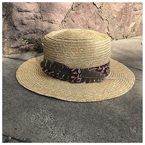 500dfcf01ca77 YEEWEN 2019 Mode Chapeau de Soleil d'été for Hommes/Femmes Unisexe Straw Hat